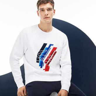 Lacoste Men's Tricolor Collection Print Fleece Sweatshirt