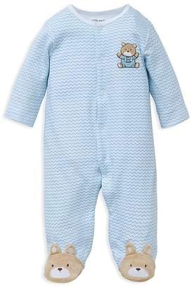 Little Me Boys' Chevron Bear Footie - Baby