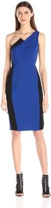 BCBGeneration Women's One-Shoulder Color-Blocked Dress
