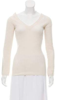 Rag & Bone Rib-Knit V-Neck Sweater