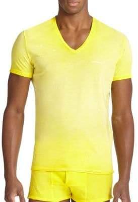DSQUARED2 Men's Ink Splatter Jersey Tee - Green - Size M