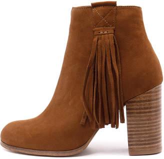 Django & Juliette Scuttle Tan Boots Womens Shoes Dress Ankle Boots