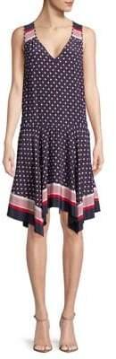 Joie Ginabel Geometric-Print Silk Dress