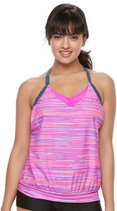 Free Country Women's Bust Enhancer 2-in-1 Tankini Top