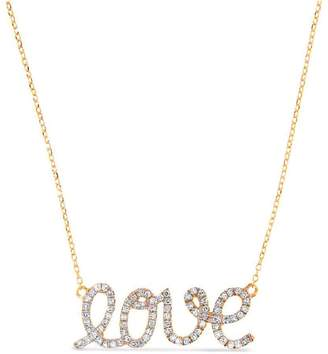 "Cosanuova 14K Gold Diamond Necklace ""Love"""