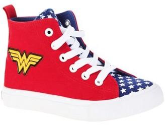 Dc Superhero Girls Big Girls High Top With Metal Badge Sneaker