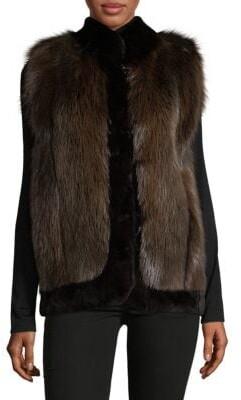 Dyed Sheared Beaver Fur Vest