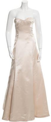 Vera Wang Strapless Satin Gown $375 thestylecure.com
