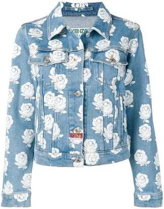 Kenzo rose pattern denim jacket
