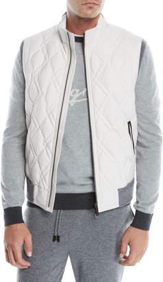 Ermenegildo Zegna Men's Quilted Wool Zip-Front Vest