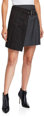 McQ Deconstructed Two-Tone Kilt Skirt