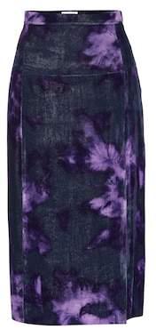 Altuzarra Pennant silk-blend velvet skirt