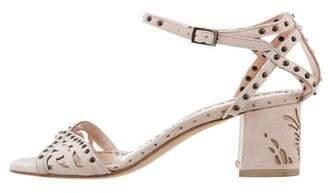 Marchesa Embellished Suede Sandals
