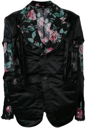 Comme des Garcons floral panelled blazer