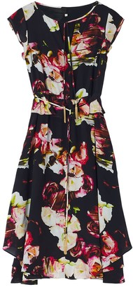 Ophelia Ethereal London Dark Knee Short Sleeved Dress