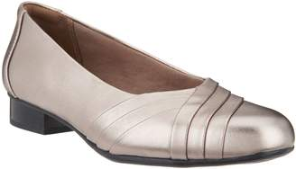 Clarks Collection Leather Slip-On Pumps- Juliet Petra