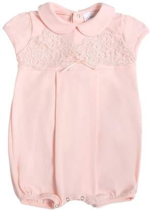 La Perla Cotton Jersey & Lace Romper