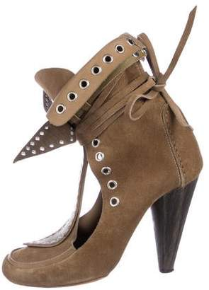 Isabel Marant Suede Grommet Ankle Boots