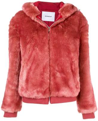 Dondup faux fur hooded jacket