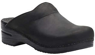 Dansko Men's Open Back Leather Clogs - Karl