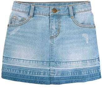 Crazy 8 Let-Down Hem Jean Skirt