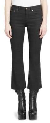 Saint Laurent Kickflare Cropped Jeans