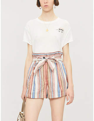 Free People Wipeout graphic-print woven T-shirt