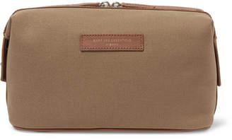 WANT Les Essentiels Kenyatta Leather-Trimmed Organic Cotton-Canvas Wash Bag