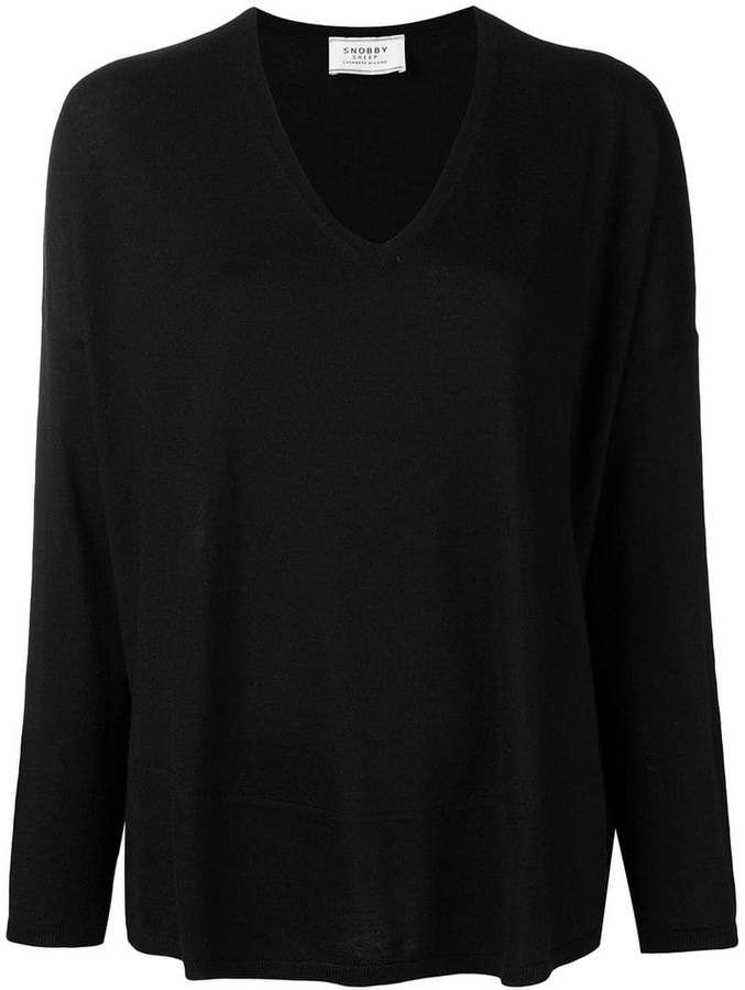 long-sleeve flared sweater