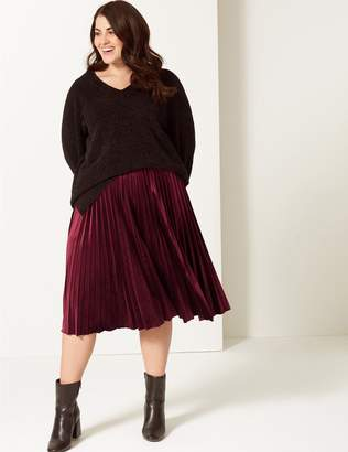 Marks and Spencer CURVE Pleated Skirt