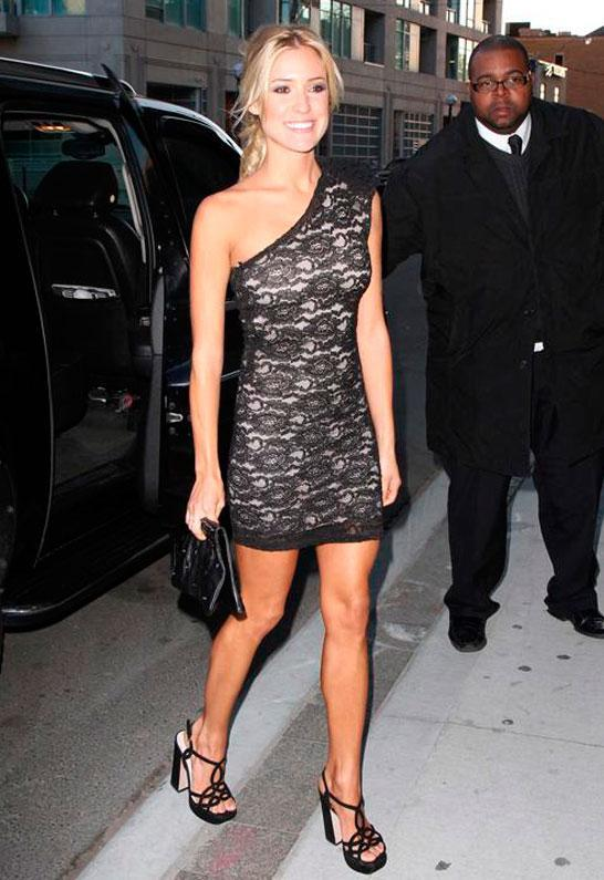 Lace Sleeveless Dress in Black - as seen on Kristin Cavallari  - by Brian Lichtenberg