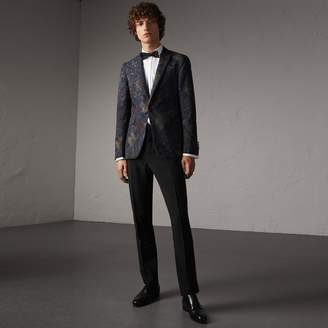Burberry Slim Fit Wool Mohair Evening Trousers