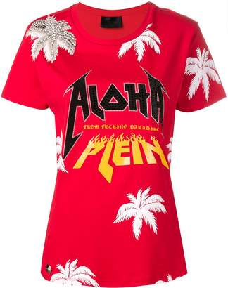 Philipp Plein aloha embroidered T-shirt