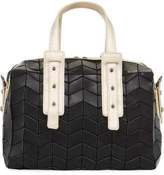 Patrizia Luca Two-Tone Geo Tile Mini Duffle Bag