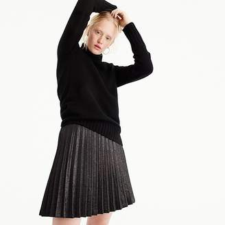 J.Crew Lamé pleated mini skirt