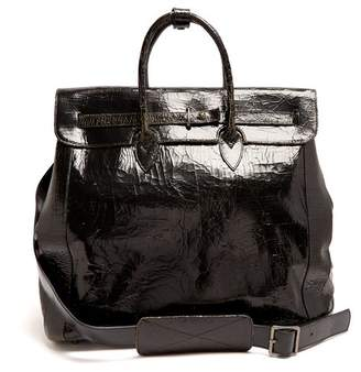 Marc Marmel Herman Cracked Leather Holdall - Mens - Black