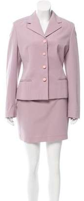 Versace Structured Skirt Suit Set w/ Tags