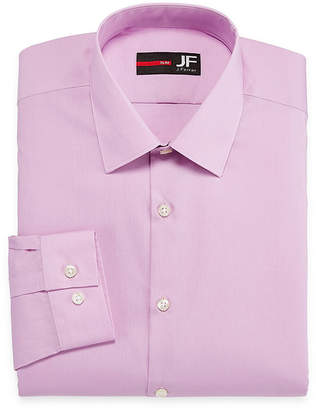 Jf J.Ferrar Easy-Care Solid Long Sleeve Woven Dress Shirt - Slim