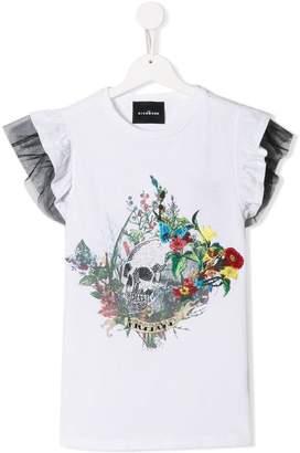John Richmond Junior TEEN mixed-print T-shirt