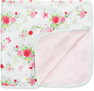 First Impressions Baby Girls Flowers & Dots Blanket