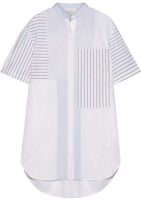 3.1 Phillip Lim - Patchwork Striped Cotton-poplin Mini Shirt Dress - White