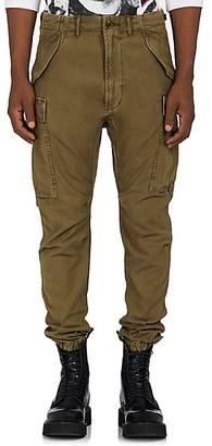 R 13 Men's Drop-Rise Cotton Canvas Cargo Pants - Olive