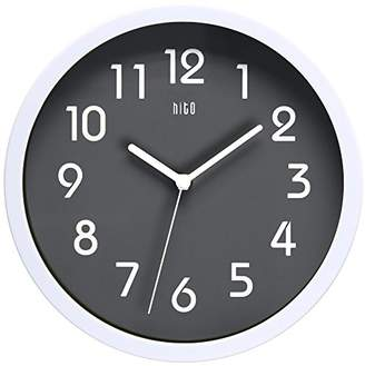 hito Silent Wall Clock Non ticking 10 inch Excellent Accurate Sweep Movement Glass Cover