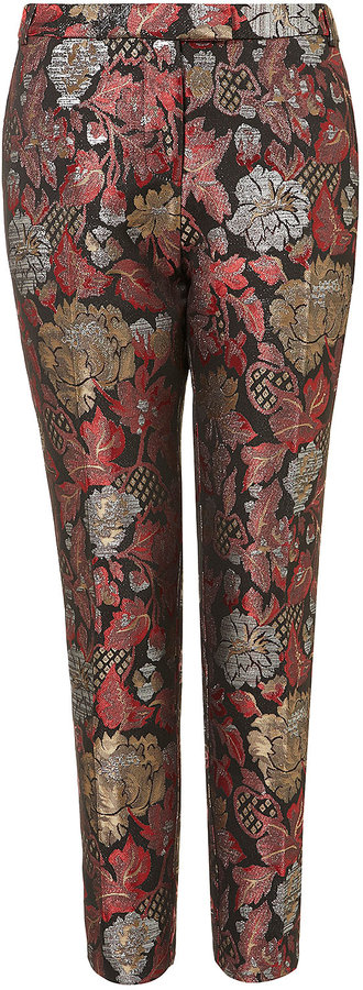 Chinoiserie Jacquard Cigarette Trousers
