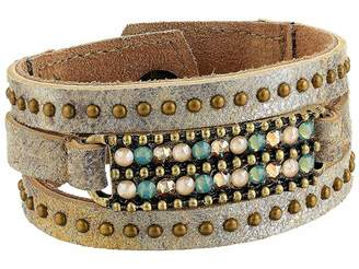 Leather Rock Kylie Bracelet