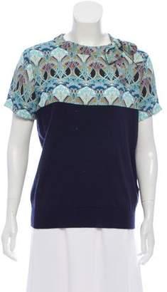 Blugirl Paneled Knit Top