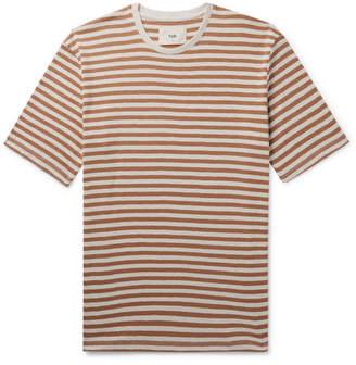 Folk Striped Cotton-Jersey T-Shirt - Men - Brown