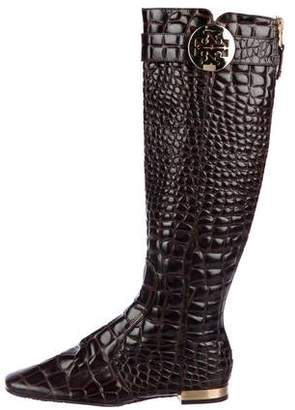 Tory Burch Embossed Knee-High Boots