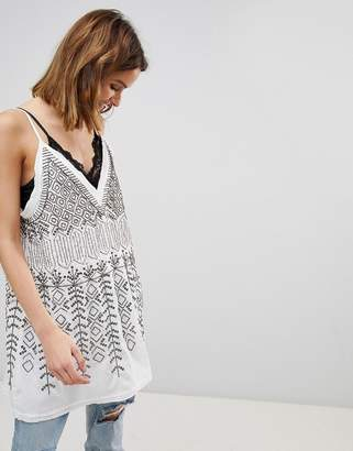 Free People Arizona Nights Embellished Tunic Top