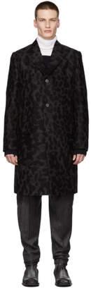 Stella McCartney Black Leopard Logan Coat